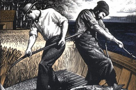 Detail from the cover of Farmers and Fishermen
